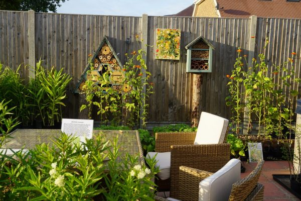 Bug Hotels at Enchanted Gardens Nursery in Whitstable, Kent