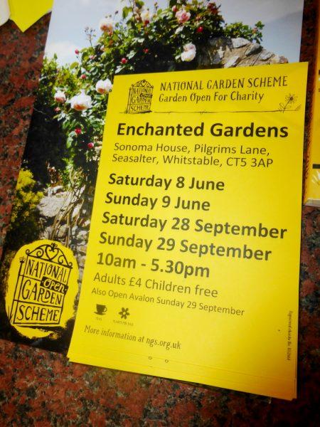 NGS Open Garden Day at Enchanted Gardens Kent.